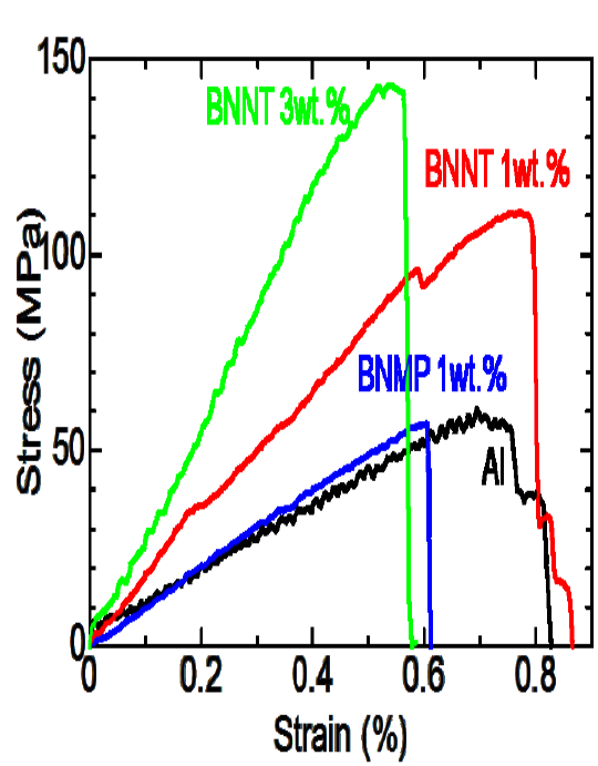 Synthesis of BN nanotubes and nanosheets and their application for reinforcement of metallic binders of new composite materials