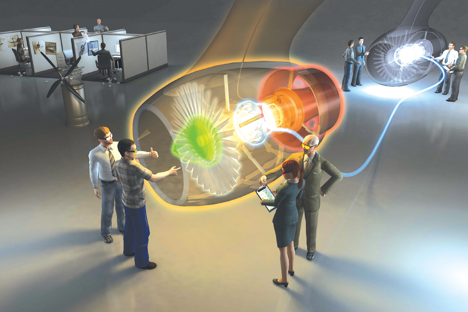 Virtual reality and multiphysics simulation